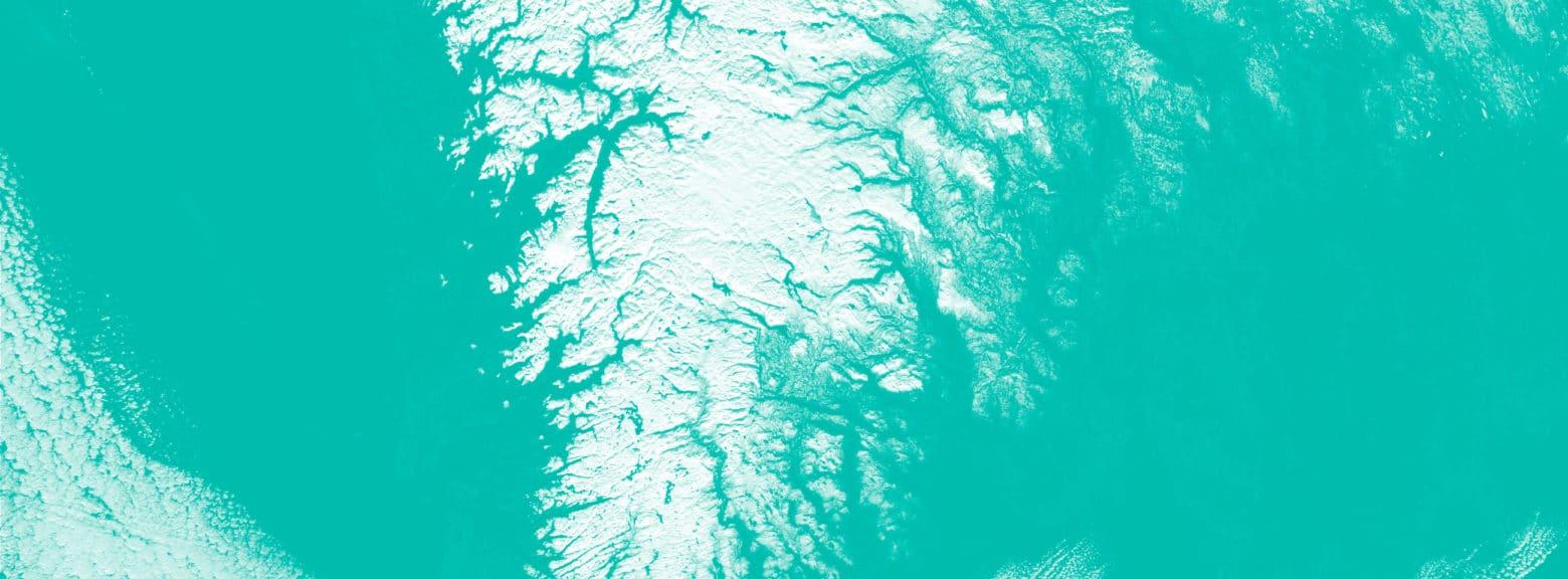 Satelittkart av sør-Norge